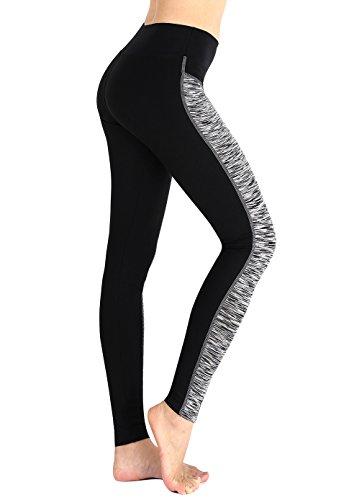 Munvot Neonlichter Sport Leggings Sporthose Laufhose Fitnesshose Training Tights Sporthose für Damen