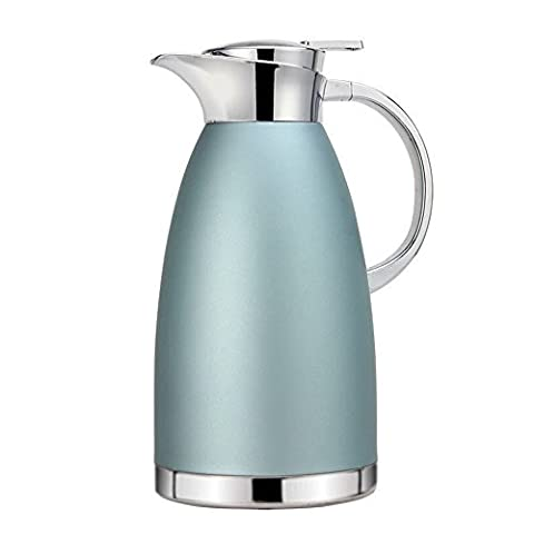 Haosen 1.8 Litre Vacuum Coffee Pot Stainless Steel Thermo Jug Insulated Thermal Carafe Flasks (Khaki