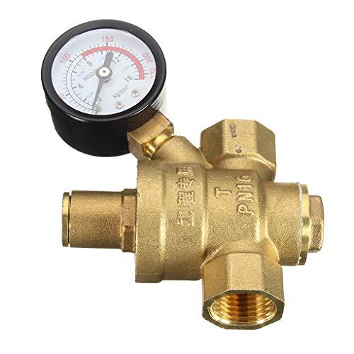 Hohe Qualität DN15 NPT Messing 1/2-Zoll-Adjustable Wasserdruckregler Reducer und Lehren-Messinstrument Regard -