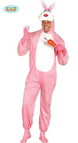rosa Kaninchen - Kostüm für Erwachsene Gr. M/L, Größe:M/L