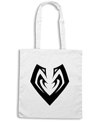 T-Shirtshock - Borsa Shopping FUN0452 2281 tribal sticker design 13 53789 Bianco