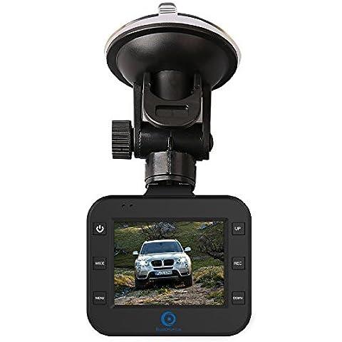 Coche DVR cámara de vídeo, 2.0 pulgadas FHD sobre Dash pantalla de 1920 * 1080p, construido en el MIC y altavoz, Aparcamiento fuera de la grabacion, 120 grados de angulo de vision, una grabadora con parking monitor, G - sensor, grabacion de loops, Samsung 4G lente, vision nocturna, salpicadero camara portatil para vehiculo