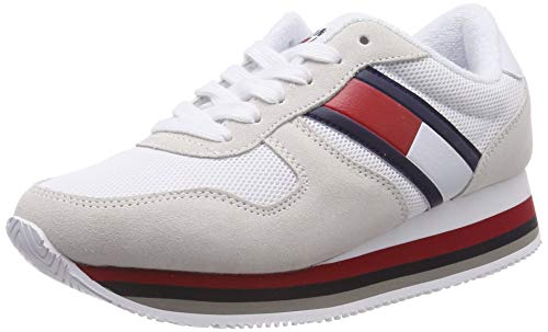 Hilfiger Denim Damen Retro Tommy Jeans Sneaker, Blau (Ice 101), 38 EU -