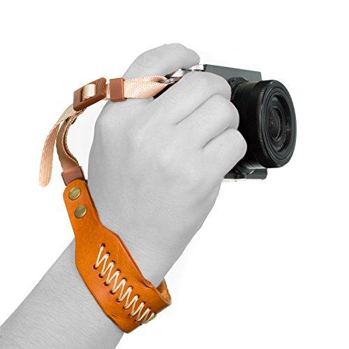 MegaGear Ultraleichte Schultergurt Leder für Alle Kamera - Hellbraun