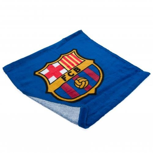 FCB Barcelona Football Club Soccer Blue Maroon Face Wash Cloth Flannel Badge