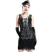 37feee815050 Babeyond Vestito Gatsby Donne 1920s Vestito Abito Anni 20 Donna Flapper  Dress 1920s Vestito da Sera