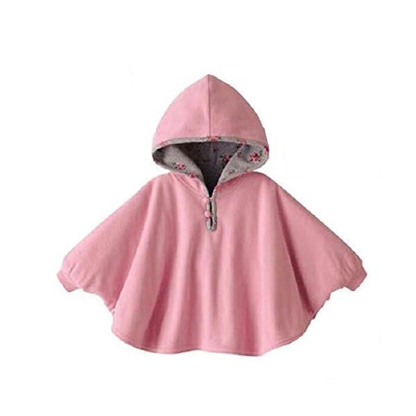 TININNA Lindo Capa Poncho con Capucha,Abrigo con Sombrero Infantil del Cabo del Poncho con Capucha de la Felpa de la… 1