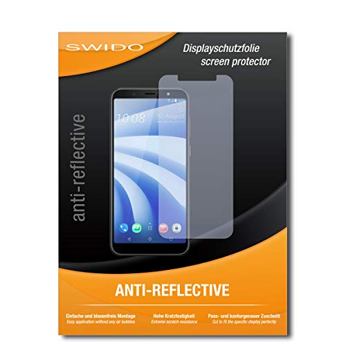 SWIDO Schutzfolie für HTC U12 Life [2 Stück] Anti-Reflex MATT Entspiegelnd, Hoher Härtegrad, Schutz vor Kratzer/Bildschirmschutz, Bildschirmschutzfolie, Panzerglas-Folie