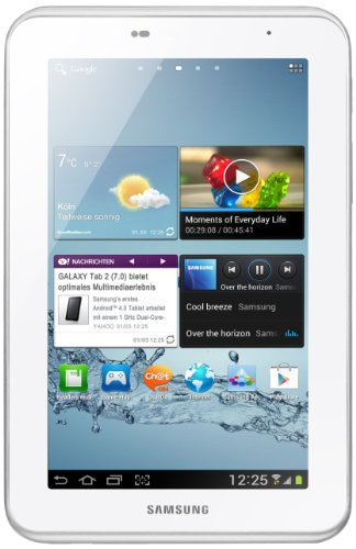 Samsung Galaxy Tab 2 P3100 3G+WIFI Tablet (17,8 cm (7 Zoll) Display, 1GHz Prozessor, 1GB RAM, 8 GB Speicher, 3,2 Megapixel Kamera, Android) weiß - Samsung Tablet 2012