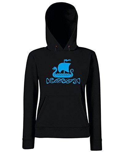 T-Shirtshock - Sweats a capuche Femme TIR0245 Dragon Boat Noir