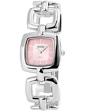 Tavolino Damen Analog Armbanduhr mit Quarzwerk 100425500256 Metallgehäuse mit Metallarmband Silberfarbig und Clipverschluss...
