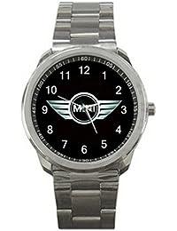 relojes de pulsera ESHSS149 Mini Cooper Car Automobile Logo #A Sport Metal Watch