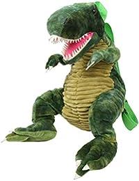 Rrock Niños Mochila de la Personalidad de Dibujos Animados Dinosaurio de Peluche Escuela Primaria Bolsa de