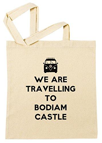 Erido We Are Travelling to Bodiam Castle Einkaufstasche Wiederverwendbar Strand Baumwoll Shopping Bag Beach Reusable -