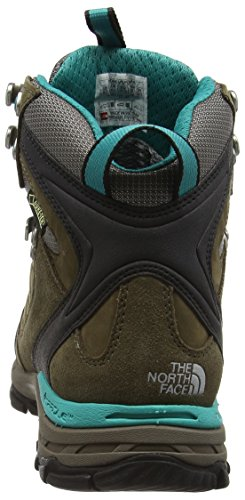 The North Face Verbera Hiker Ii Gore-Tex, Chaussures de Randonnée Basses Femme Vert (Weimaraner Brown/Jaiden Green M6E)