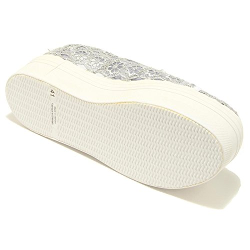 7879F sneaker zeppa JEFFREY CAMPBELL ZOMG scarpa donna shoes women Grigio/Bianco