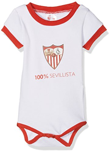 Sevilla CF 06BOD03-00 Bodsev Body, Bebé-Niños, Multicolor (Rojo/Blanco), 00