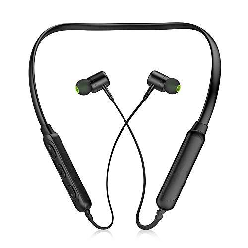 XU-XIAZHI,Drahtloser Bluetooth 4.2 Headset-Halsbügel(Color:SCHWARZ)