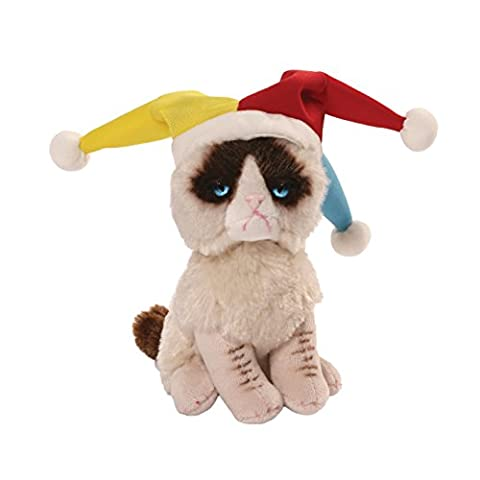 Gund Grumpy Cat - 4054066 - Peluche le Chat Fou du Roi - Multicolore