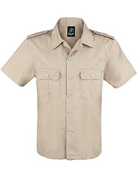 Brandit Herren Hemd US kurzarm, Farbe:beige;Größe:4XL