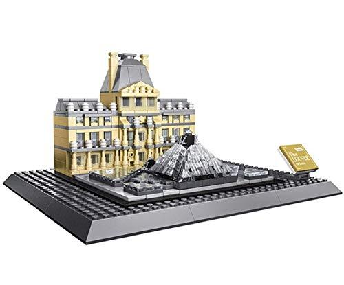 Wange Musée du Louvre. Modèle d'architecture d'assemblage avec des...