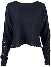 SGHTRHXUT suéter suéter de Manga Larga de Punto Suelto de Manga Larga Prendas de Punto Puro suéter de suéter de Fondo Fino, de Color Verde Oscuro, XL