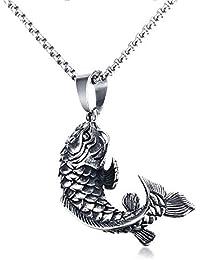 Box MATERIA Damen Anhänger Fisch Karpfen Silber 925 Tieranhänger rhodiniert