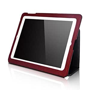 Micropix - Ultra-thin Genuine Leather Case For Apple iPad 2 (All Models)