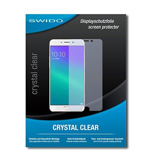 SWIDO Schutzfolie für Oppo F1 Plus [2 Stück] Kristall-Klar, Hoher Härtegrad, Schutz vor Öl, Staub & Kratzer/Glasfolie, Bildschirmschutz, Bildschirmschutzfolie, Panzerglas-Folie