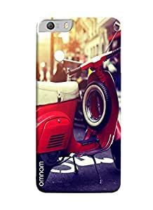 Omnam Vintage Scooter With Tyre Printed Designer Back Cover Case For Micromax Knight 2 E471