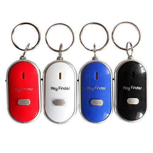 der Whistle Key Finder Keychain Sound LED Mit Whistle Klatschen ()