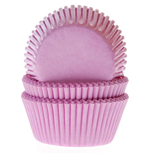 Cakes Supplies - Lot de 50 Caissettes Hom Rose Clair