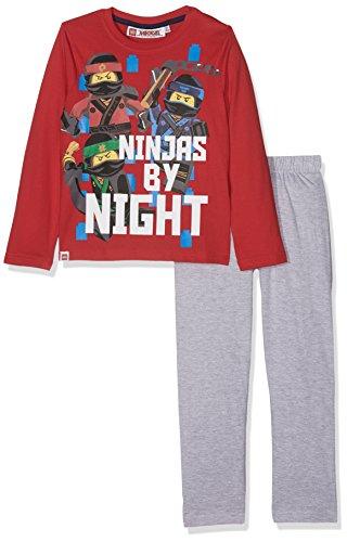 LEGO Ninjago Jungen Zweiteiliger Schlafanzug 162016, Rouge (Racing red 19-1763/Peacoat 19-3920TCX/Lt Greymelange), 4 Jahre
