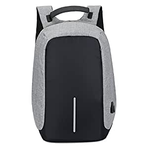 Nlyefa groß Kapazität wasserdicht Laptop Rucksack Reise Rucksack mit USB Port für 15, 6 Zoll Laptop Grau