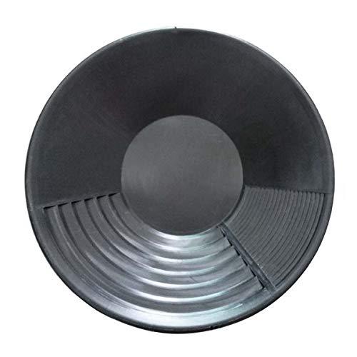 SODIAL Schwarzer Kunststoff Gold Pan Basin Nugget Mining Baggerarbeiten Prospektion für Sand Gold Mining Manuelle W?Sche Gold Waschen AusrüStung