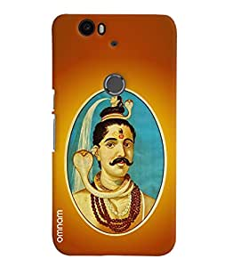 Omnam Lord Shiva Printed Designer Back Cover Case For Google Nexus 6P