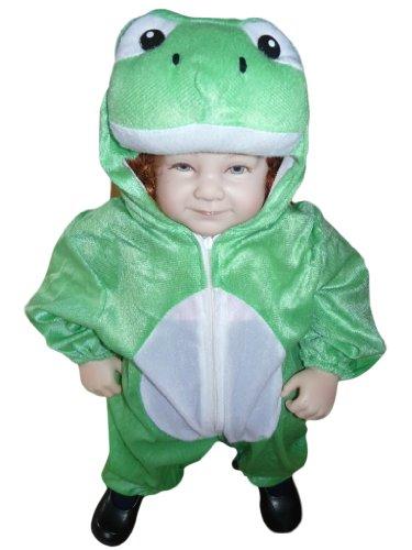 J01 Taglia 4-9M (68-74cm) Costume da Rana Ranocchio per bambini e neonati, indossabile comodamente sui vestiti normali