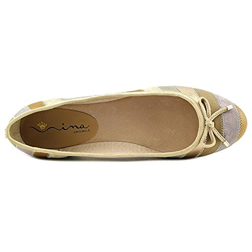 Nina Penny Femmes Cuir Chaussure Plate Fawn Ombre