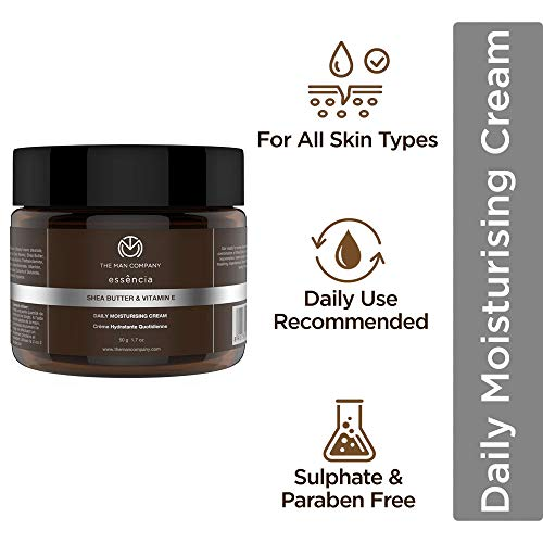 The Man Company Daily Moisturising Cream for Nuturishing & Smoothening (50gm)