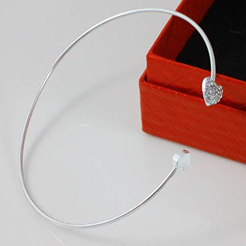 Qiuday Rabatt Silber Armbänder verstellbar Armreifen für Frauen und Mädchen 2019 New Heart Crystal Love Eröffnung Armband Kristall Armbänder Armbänder für Frauen