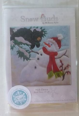 McKenna Ryan~SNOW BUDS~Pre-Cut Laser Applique Kit With Fabric~Melt Down by Pine Needles