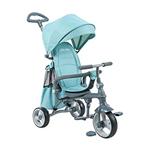 XHYX Children's folding tricycle, stroller baby 1-3-5 years old children's bicycle with seat belt awning   14