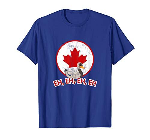 Canada Goose Eh mit kanadischen Flagge T-Shirt T-Shirt (Canada Goose Grau)