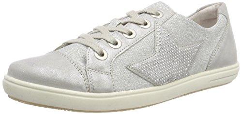 Rieker Kinder Mädchen K3016 Sneaker, Silber, 40 EU