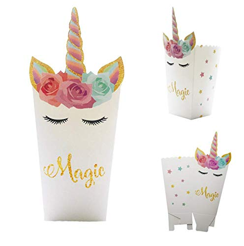 TO_GOO - Juego de 12 Piezas de Unicornio arcoíris para decoración de Fiesta Infantil