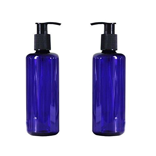 300ml/10oz nachfüllbar leer blau Pumpe Flaschen Gläser mit Pumpe Tops für Make-up Kosmetik Badewanne Dusche Toilettenartikel Liquid Container mit auslaufsicherer tragbar Reise Zubehör