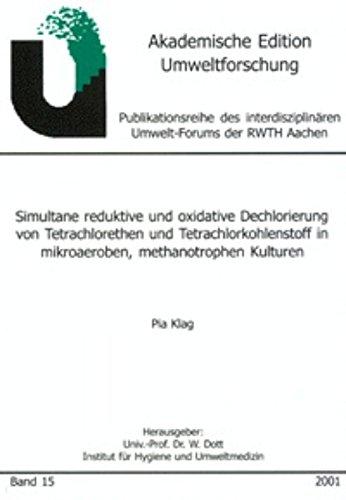 Simultane reduktive und oxidative Dechlorierung von Tetrachlorethen und Tetrachlorkohlenstoff in mikroaeroben, methanotrophen Kulturen