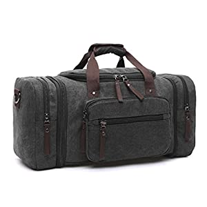 41eiLbsUXtL. SS300  - LOSMILE Bolsa de Viaje la Lona. (Gris)