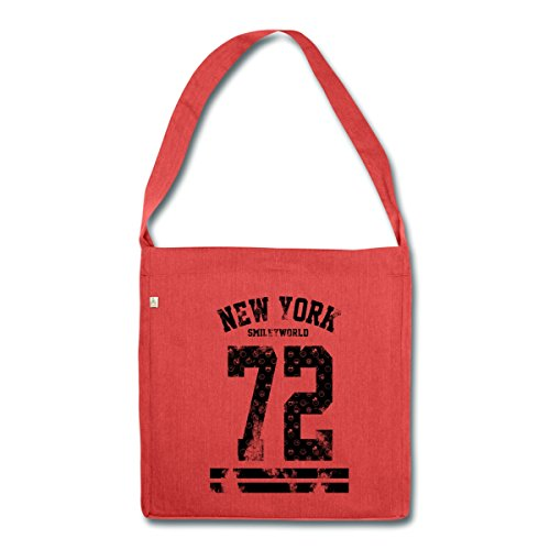 smiley-world-new-york-72-sac-bandouliere-100-recycle-de-spreadshirtr-rouge-chine
