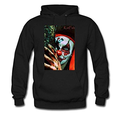 HGLee Printed Personalized Custom Clown Women's Hoodie Hooded Sweatshirt Black